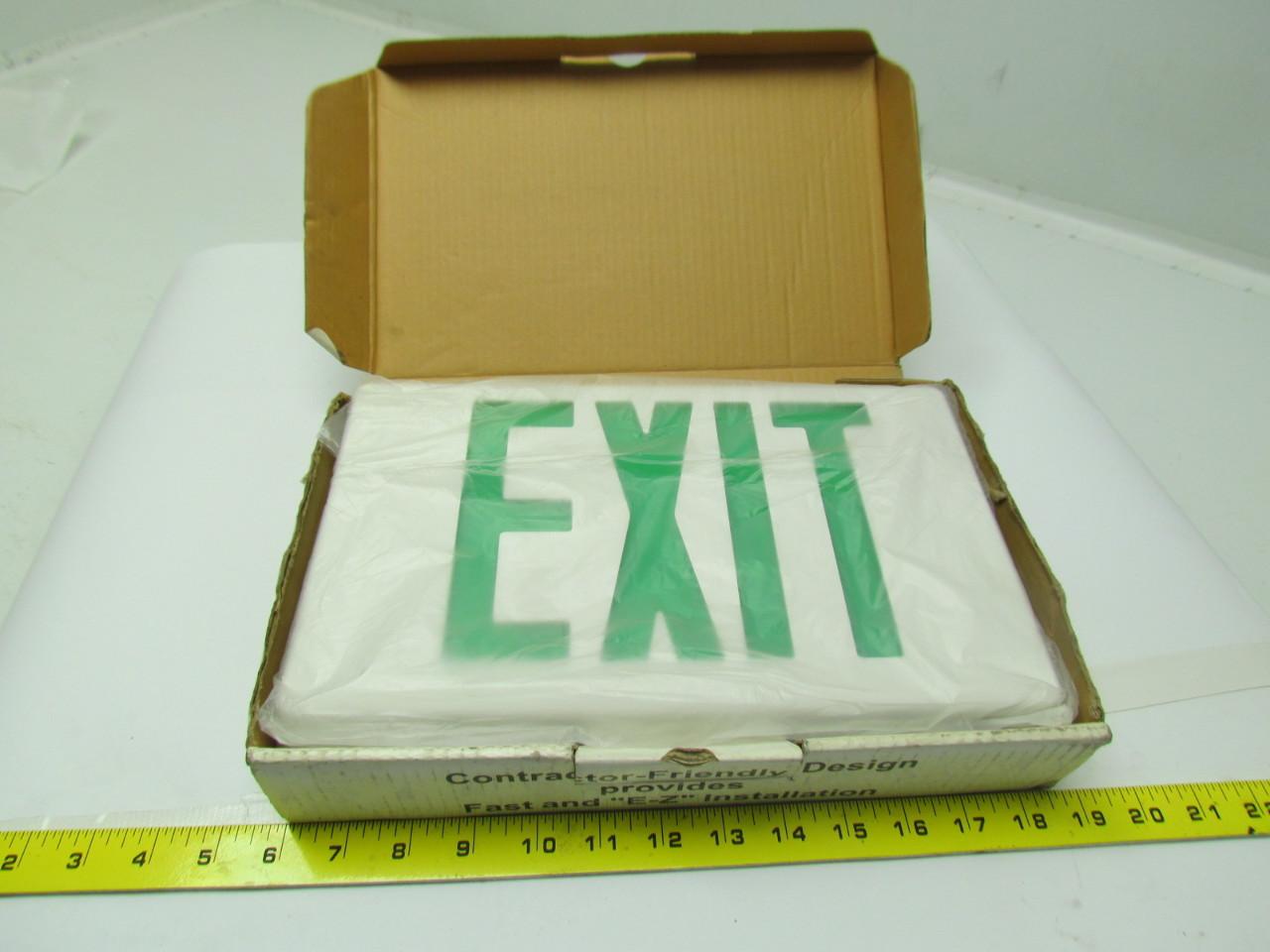 Best Lighting Ezxteu2gwem Led Exit Sign Green Letters