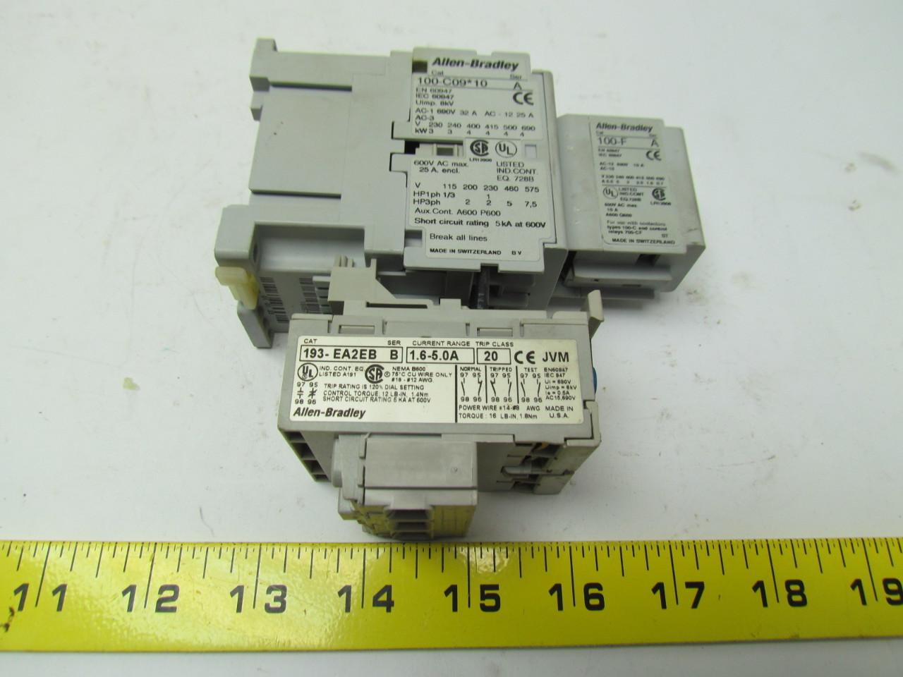 Wiring Diagram Allen Bradley Contactor : Allen bradley c pole contactor w ea eb