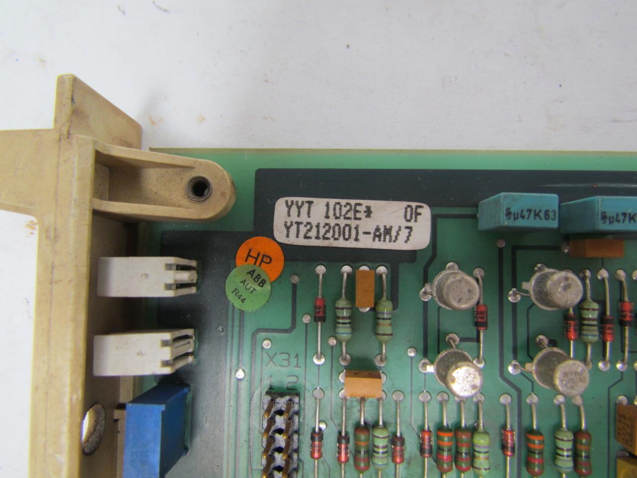 ASEA YYT 102E*Y212001-AM/7 Servo control board | eBay