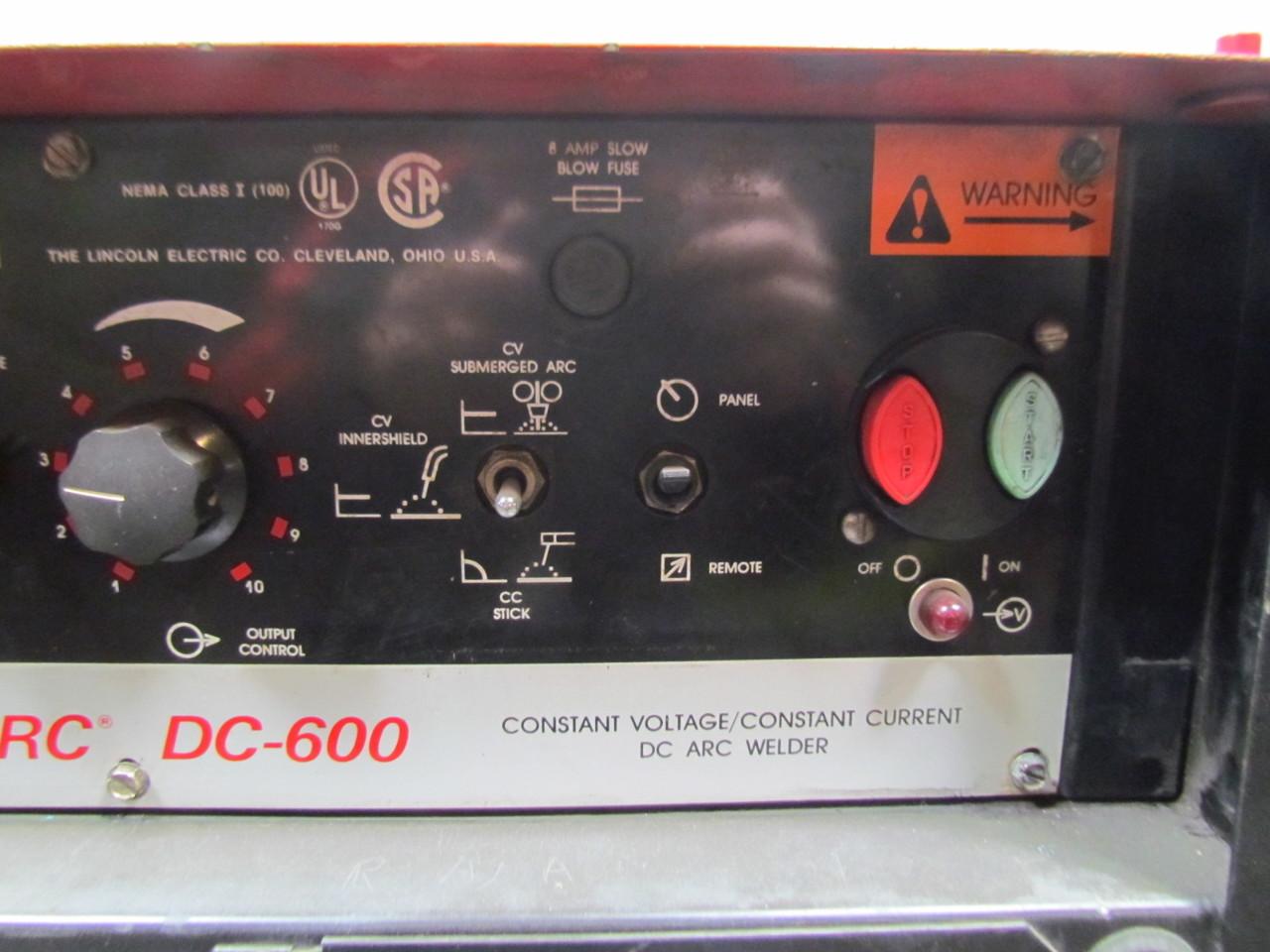 lincoln idealarc dc 600 10419m constant voltage constant. Black Bedroom Furniture Sets. Home Design Ideas