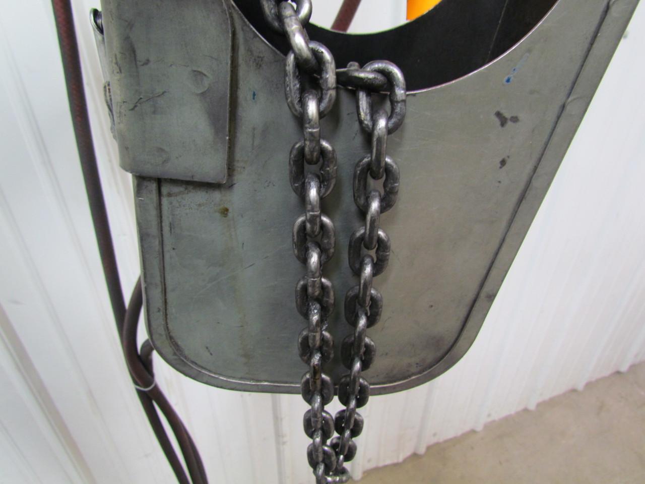 gardner denver300lb air pneumatic chain hoist pendant fast