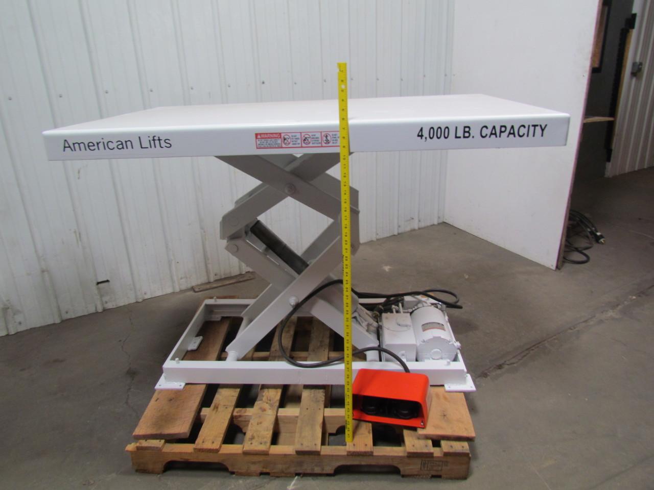 "American Lifts 4000# 115-230V 1PH 36x60"" Scissor Lift"
