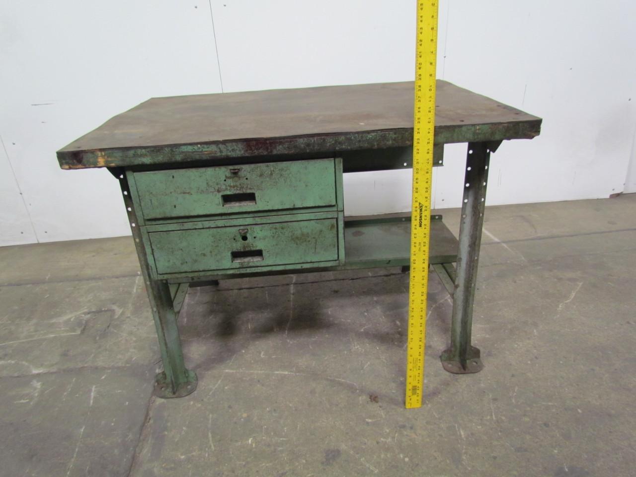 x34 butcher block wood top industrial workbench table kitchen island