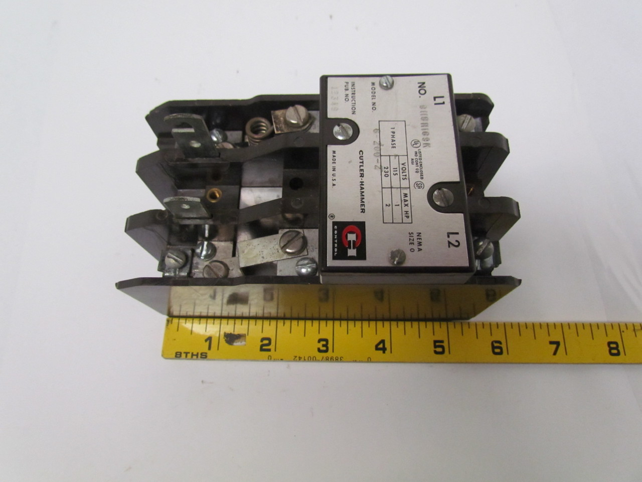 cutler hammer 9115h169k ac manual motor starter size 0