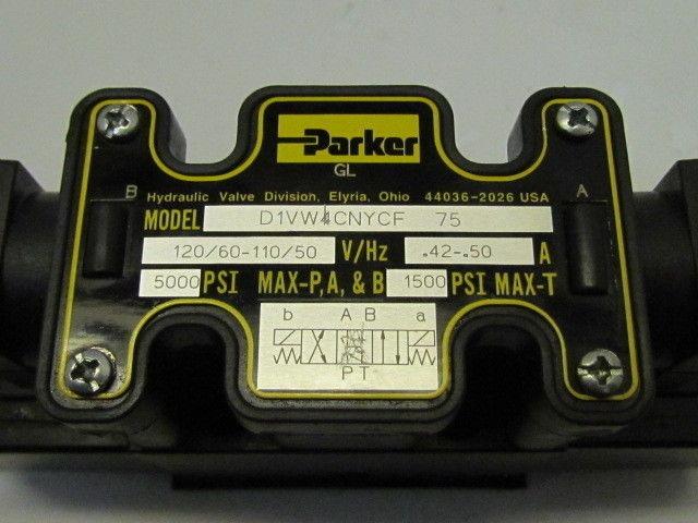 Parker hydraulic division d1vm4cnycf 75 120v solenoid for Parker hydraulic motors catalog