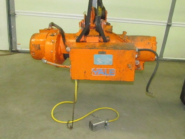 1 2 ton yale electric hoist 2speed model 121cp industrial for 2 ton hoist with motorized trolley