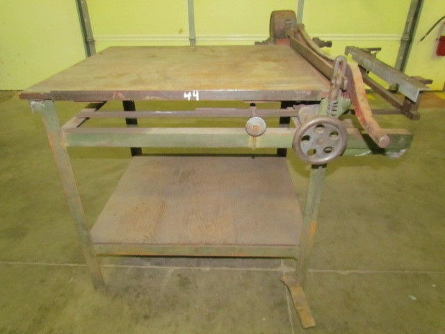 Large Vintage 30 Quot Guillotine Paper Cutter With Cut Gage