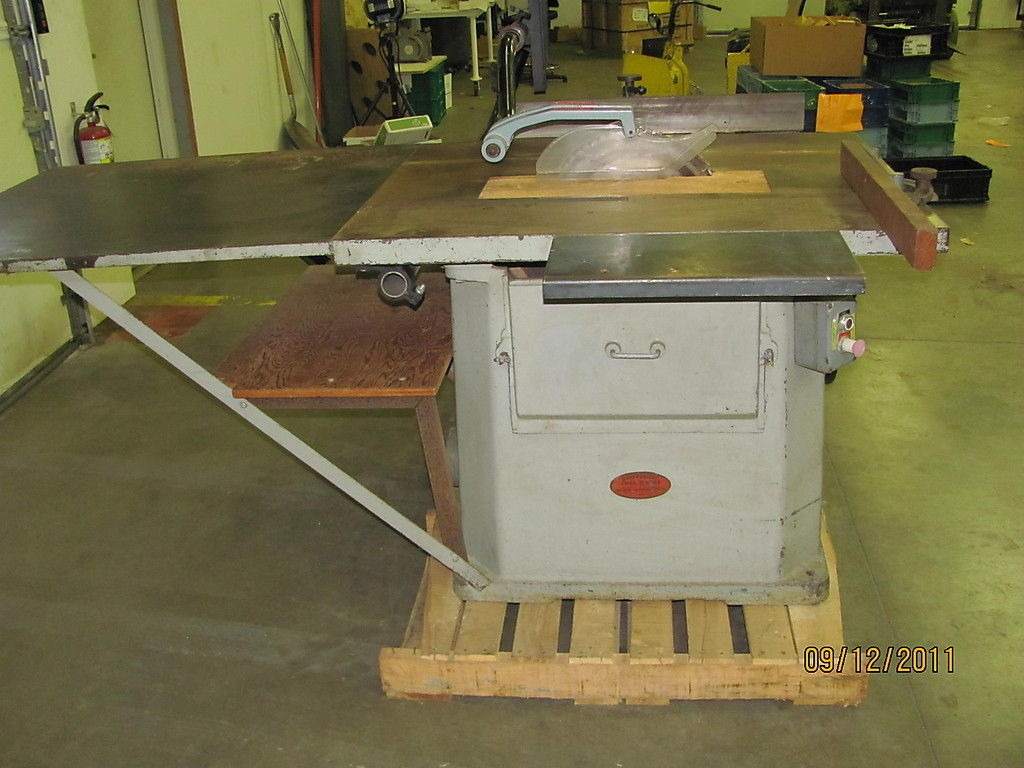 Northfield Foundry Machine 16 5hp 3 Phase Industrial Duty Table Saw W Fence Ebay