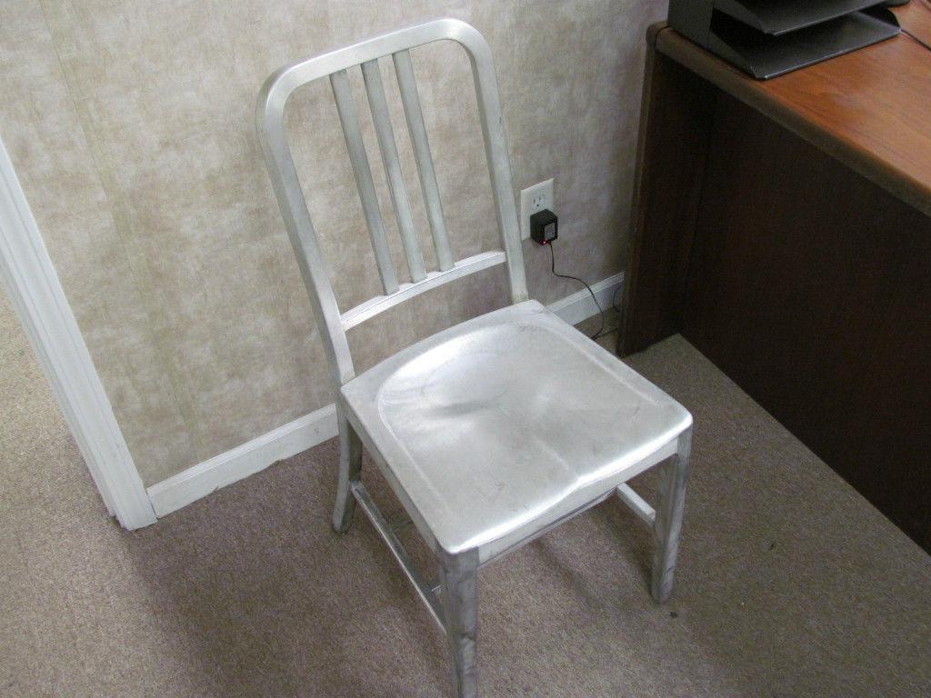 Good Form Aluminum Chair Navy Antique Vintage EBay