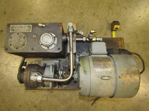 Hydraulic Power Unit Ge 1 1 2 Hp 3ph Motor Gerotor Pump