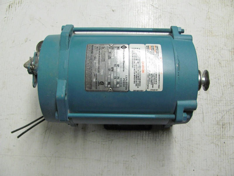 Franklin Electric Motor 1 4hp 1 Ph Phase 1725 Rpm 115 230v
