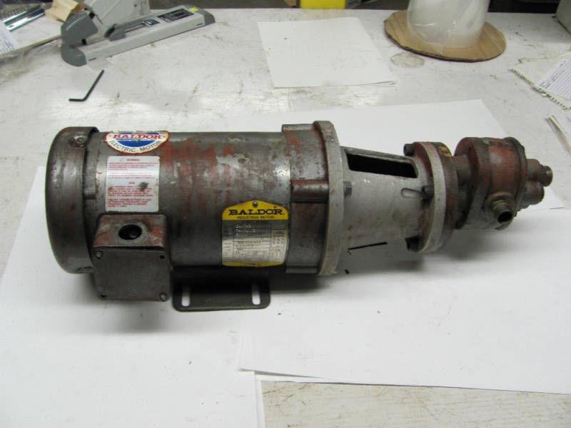 Baldor electric motor cat cm3543 w werner pump ebay for Baldor motor serial number lookup