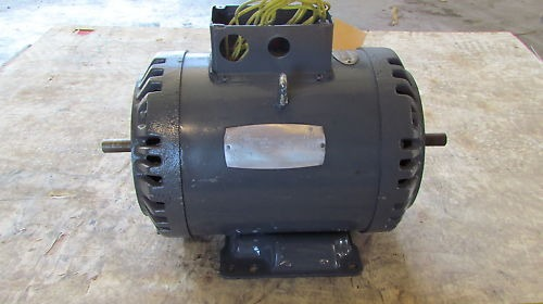 5hp double shaft motor g184tcfcy 5hp 1740rpm 3ph for Double ended shaft electric motor