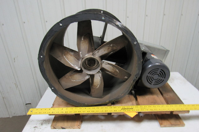 Dayton 4c661b 18 Quot Tubeaxial Exhaust Fan W 3 4hp 3ph