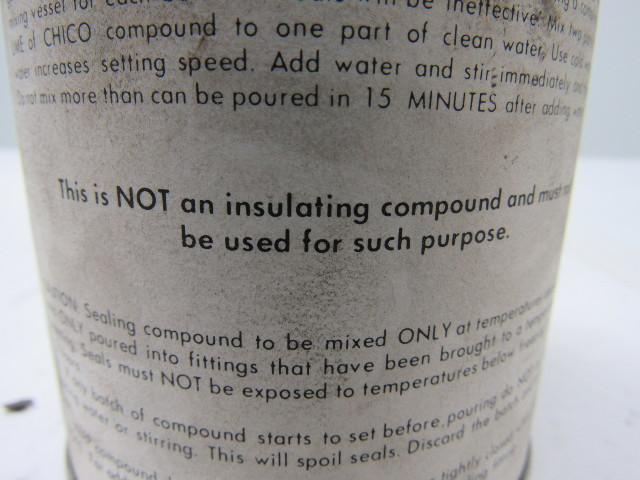 chico a sealing compound instructions