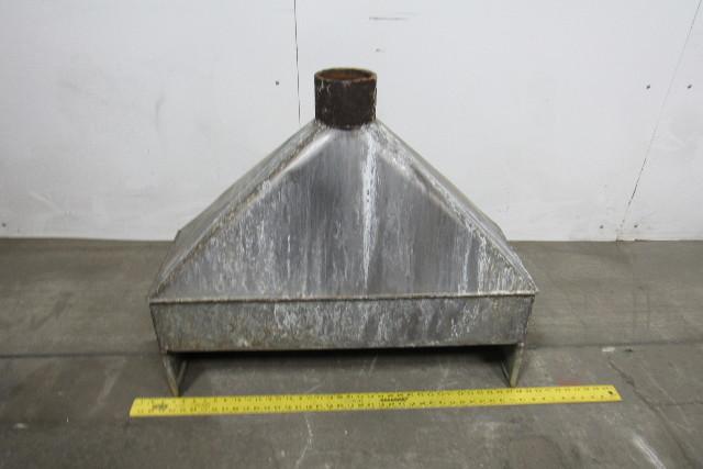 Industrial Ventilation Hoods : Quot hood stainless steel fume exhaust vent vacuum