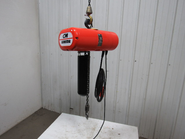 Cm Lodestar L 2000lb  1 Ton Electric Chain Hoist 20 U0026 39 Lift