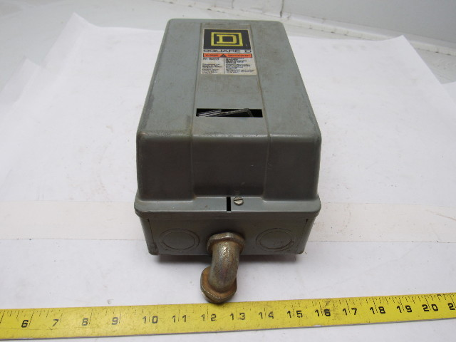 Square d 8536sbg2 motor starter 120v nema size 1 w 30072 for Nema size 1 motor starter