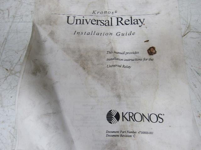 Kronos 400 series universal relay & time clock bullseye    on kronos universal relay wiring diagram