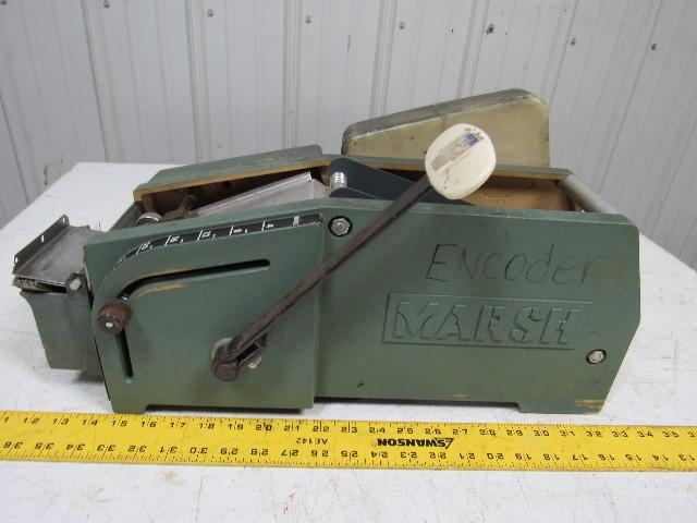 Marsh 5ht Manual Hand Taper Gummed Packing Tape Dispenser