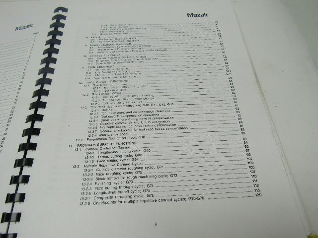 Mazak Mazatrol T32-3 Programming Manual Publication # H712PB0010E