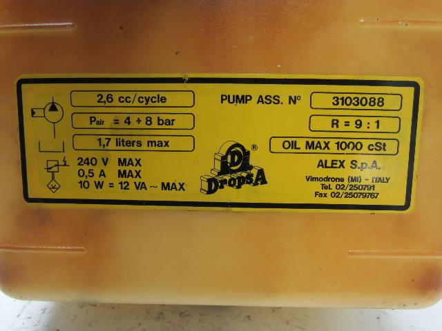 Dropsa 3103088 Pneumatic Oil Pump Tank Cnc Machine 2 6cc