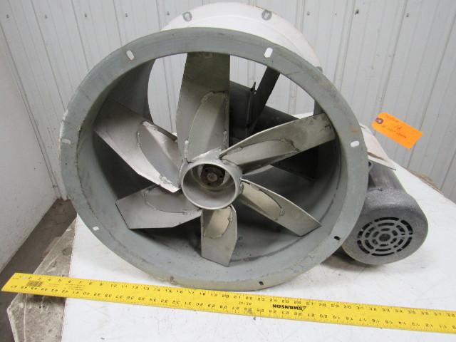 Dayton 4c661 1 hp 18 tubeaxial fan motor 208 220 440v for Paint booth fan motor