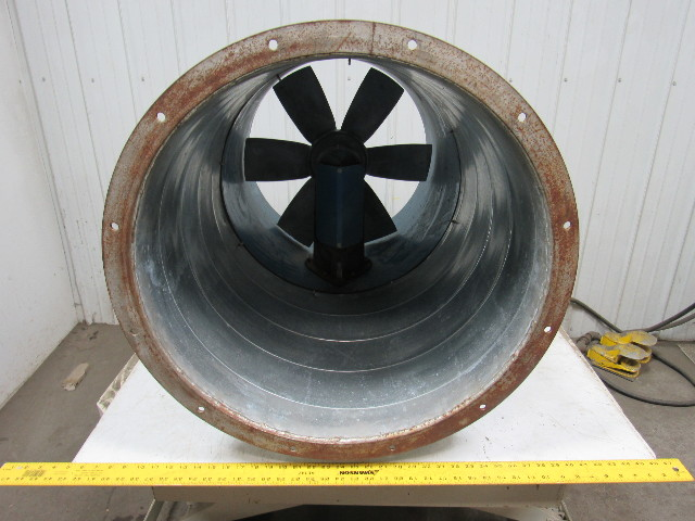 "Used Welders For Sale >> BINKS 30-240-8 24"" Paint Booth Exhaust Fan Tubeaxial W ..."