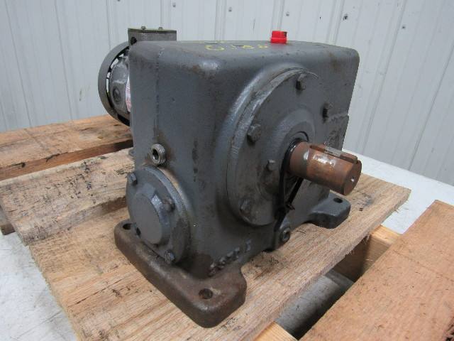 EMERSON ELECTRIC WC0252 1/4HP DC Motor & Gearbox 90V 2 8A 56C 1750RPM TEFC  Cont
