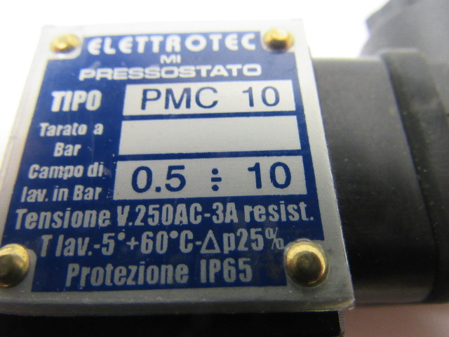 Elettrotec Pmc 10 Adjustable Pressure Switch 220v 0 5  10