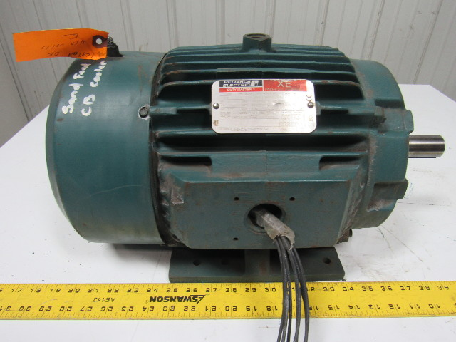 Reliance electric p21g3360e 10 hp 3 ph 230 460v 1755 rpm for Reliance electric motor parts