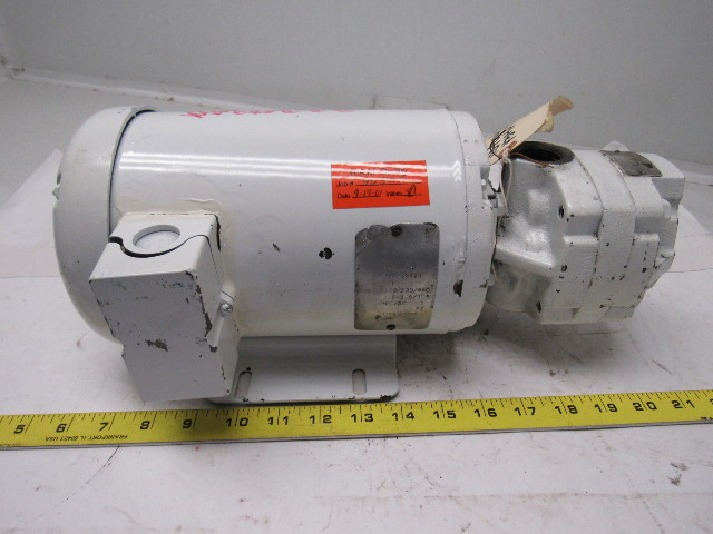 Delta power hydraulics a 23 1hp transfer pump motor unit for Hydraulic pump motor units