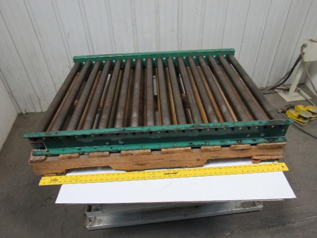 33 Quot X 48 Quot Roller Conveyor Section 2 Quot Dia 3 Quot C L 4 1 2 Quot Frame
