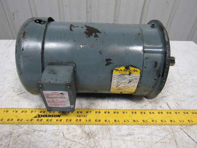 Baldor vm3613t 5hp electric motor 208 230 460v 3450 rpm for 5hp 3ph electric motor