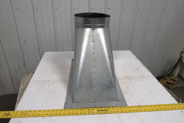 12 Quot Dia Galvanized Rectangle To Round Transition Duct
