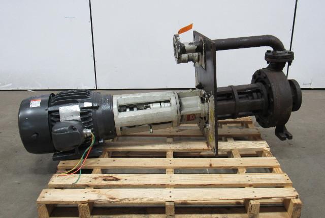 gusher pump cl2x3 10 sel cdm 4 adp 7 1 2hp pump motor. Black Bedroom Furniture Sets. Home Design Ideas