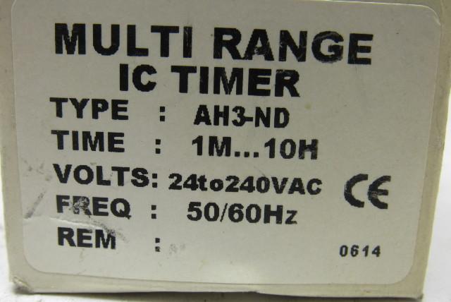 ah3 nd multi range ic analogue timer 1m 10m 24 to 240v bullseye
