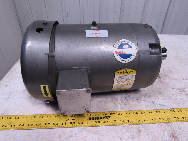 Baldor vm3710t 3 phase motor 208 230 460vac 7 5 hp for 7 5 hp 3 phase motor