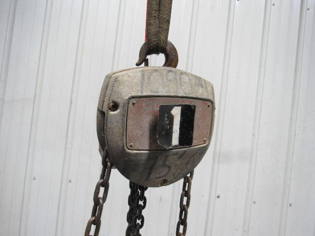 duff norton coffing 1 ton manual chain fall hoist 15 39 lift. Black Bedroom Furniture Sets. Home Design Ideas