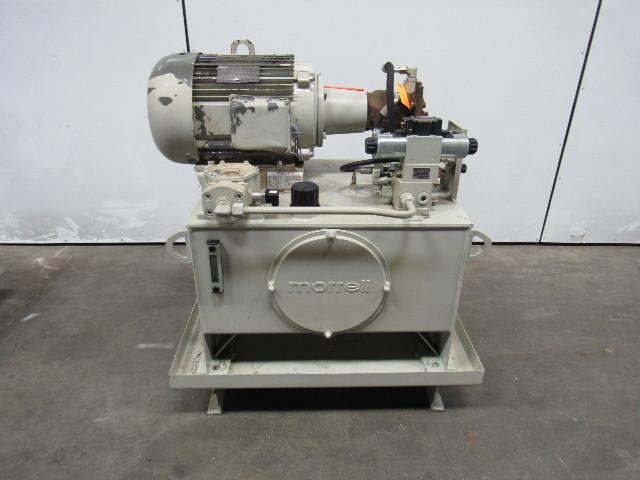 Morrell 15hp Hydraulic Power Unit 40 Gal 230 460v
