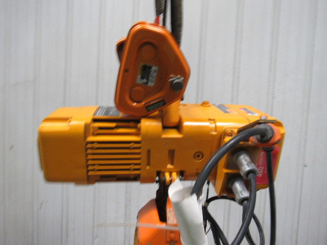 Harrington Size B Ner005l 1  2 Ton Electric Chain Hoist 10 U0026 39  Lift 460v 3ph Tested