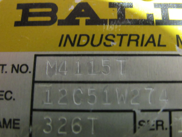 Baldor M4115t 50hp Electric Motor 230 460v 3ph 1760 Rpm