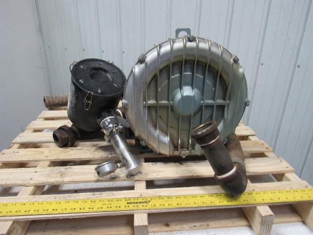 Gast R6p355a 5 5hp 3500rpm 208 460v Regenerative Vacuum Blower 2 U0026quot  Ports