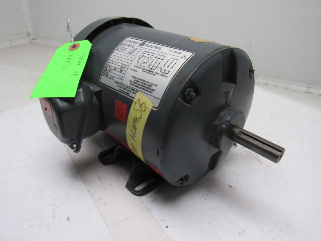 Ge 5k43mg2814 1 2hp 1140rpm 3ph 230 460v 60hz 56 frame 1 2 for 56 frame motor shaft size
