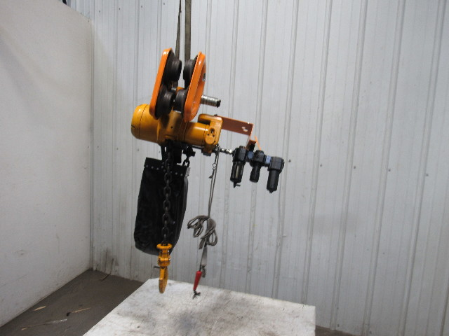 Harrington Tcr 3000c Pneumatic Air Chain Hoist 3 Ton 14 6