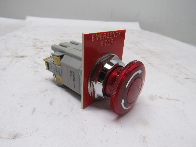 Idec Bst001 600v Maintained Contact Push Button E