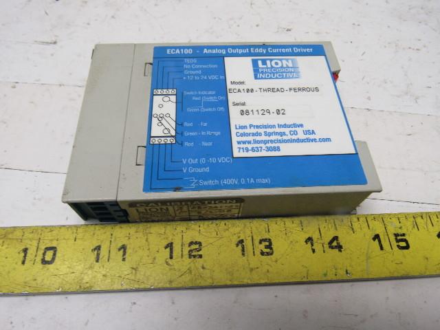 Eddy Current Analog : Lion eca thread ferrous analog output eddy current