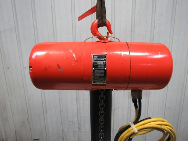 Cm Mod  L Loadstar 1 Ton 2000lb Electric Chain Hoist 208 480v 3ph 20 U0026 39  Travel
