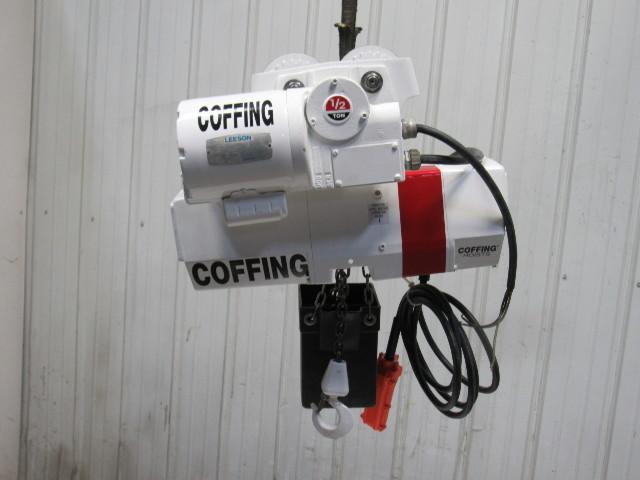 Coffing Ec Ton Electric Chain Hoist V Lift W Power Trolley