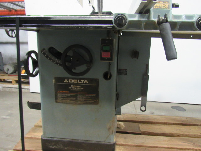 "Tilting Motor Works >> Delta 34-806 10"" Unisaw Tilting Arbor Table Saw 230V 3 Phase 